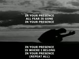 In your presence Jesus!