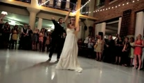 Bride  Groom's Surprise First Dance is Full of Fun, Love and Family