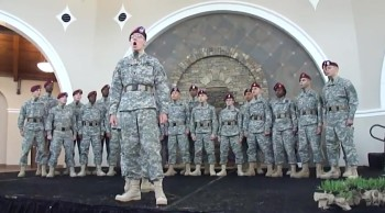 You'll Feel Proud to Be an American After You Listen to This Soldier Choir :)