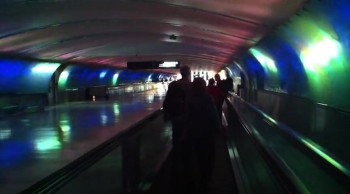Travelers at the Detroit Airport Get Treated to an Awesome Light Show
