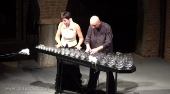 Two People Make Incredible Christmas Music with Wine Glasses