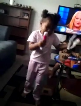 This Little Girl Doesn't Just Like Singing Gospel Music - She LOVES It