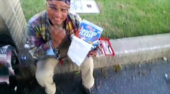 Kind Stranger Surprises Homeless with Items off their Own Christmas Wish Lists!