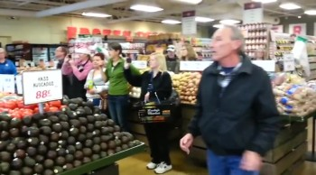 Supermarket Flash Mob Raises Money for Those in Need