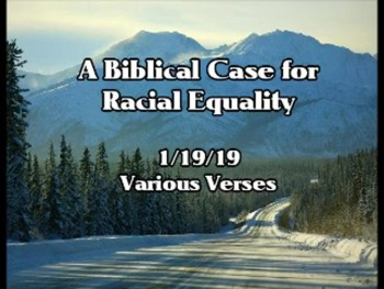 A Biblical Case for Racial Equality