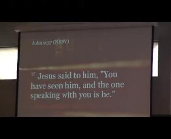 """OSLC 2014 March 30 Pastor Peter DeMik, """"The Blind Side"""" John John 9:1-7, 13-17, 34-39."""