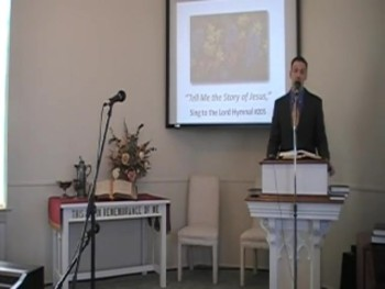 """Hymn: """"Tell Me the Story of Jesus,"""" First OPC Perkasie PA 5/11/2014"""