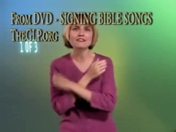 Signing Bible Songs Part 1 - Introduction for Babies or Children, Christian Sign Language Songs