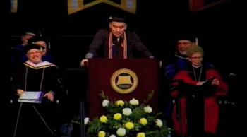 Refreshing and Inspiring Student Commencement Address, thanking Jesus at Public University