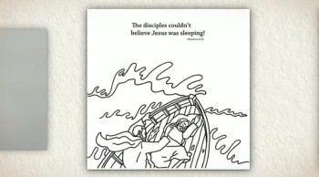 Jesus Calms the Storm - Teaching Kids by Memory Cross