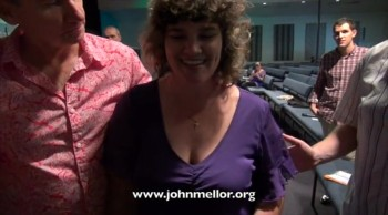 Paralysed lady in wheelchair walks for first time in 30 years - John Mellor Australian Healing Evangelist