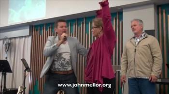 Painful frozen shoulder miracle healing - John Mellor Australian Healing Ministry