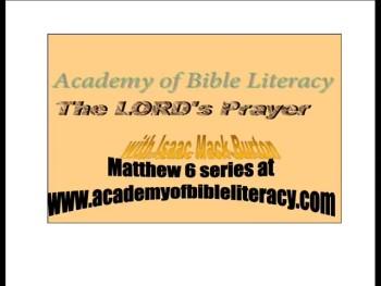 Aveinu: The LORD's Prayer- Matthew 6