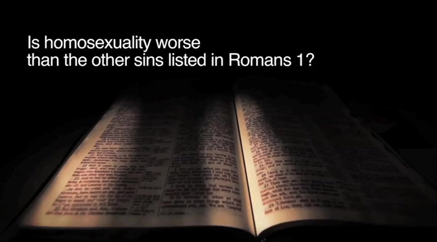 Book of romans verse on homosexuality