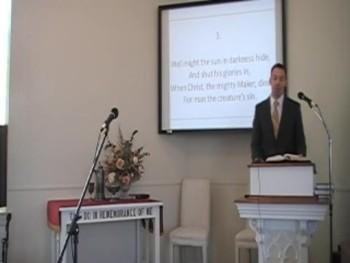 """Alas! And Did My Savior Bleed?"" Trinity Hymnal #195 First OPC Perkasie PA 9/28/14"