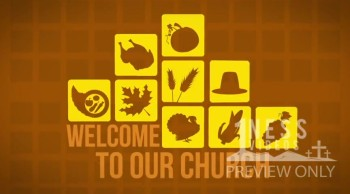 Thanksgiving Icon Welcome Video Church Motion Background Loop - Oneness Videos