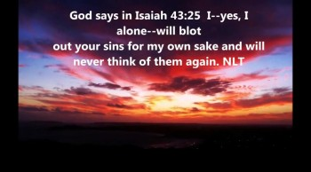 God will never think of our sins again