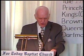 "Part 1 -- BFTBC – ""The Day of The Lord's Events"" – Pastor D. A. Waite"