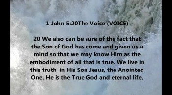 He is the True God and eternal life