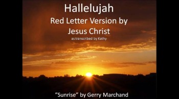 Hallelujah Red Letter Version