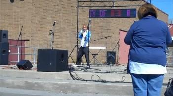 Rap performance in Richmond, CA