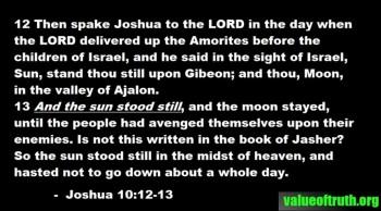 The Sun Stood Still (Joshua)