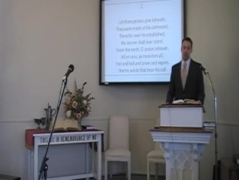 "Congregational Hymn, ""Hallelujah, Praise Jehovah,"" Trinity Hymnal #105. First OPC Perkasie PA"