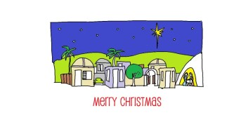 How To Draw The Little Town Of Bethlehem Kids Videos