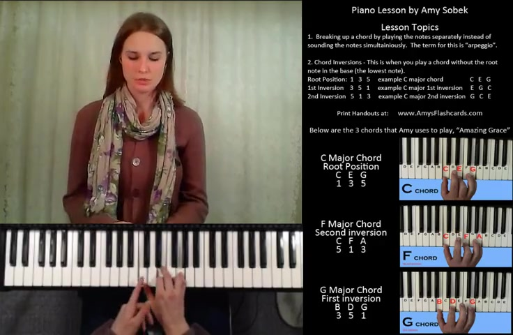 Breaking Up Chords And Playing Chord Inversions By Amy Sobek