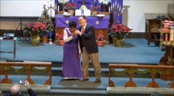Grandma sings for Christ