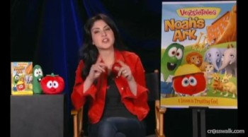 "Crosswalk.com - Jaci Velasquez Seas the Message in ""Veggie Tales: Noah's Ark"""