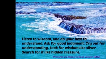 Look for wisdom