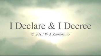 I Declare & I Decree