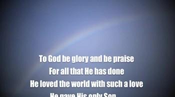 To God Be Glory