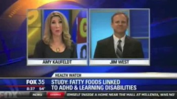 Orlando Counselor Jim West | Fox 35 Video | High Fat effects ADHD  Alternative Holistic Treatments