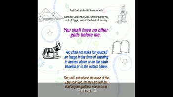 Teaching children the 10 Commandments