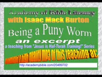 """An excerpt from """"Being a Puny Worm"""""""