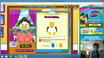 Adopting all of my webkinz i havent adopted - + MY FACE!
