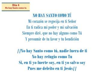 No hay Santo come tu (dia 4)