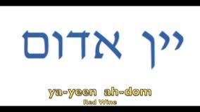 Wine in Hebrew
