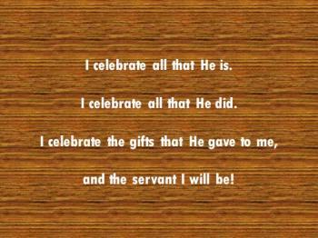 I Celebrate His Purpose