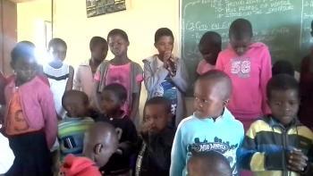 Sunday School children praise God