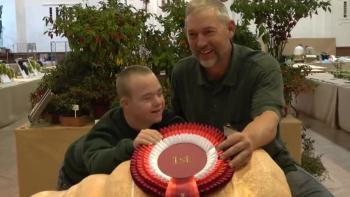 Bruderhof Student with Down's syndrome wins pumpkin competition!