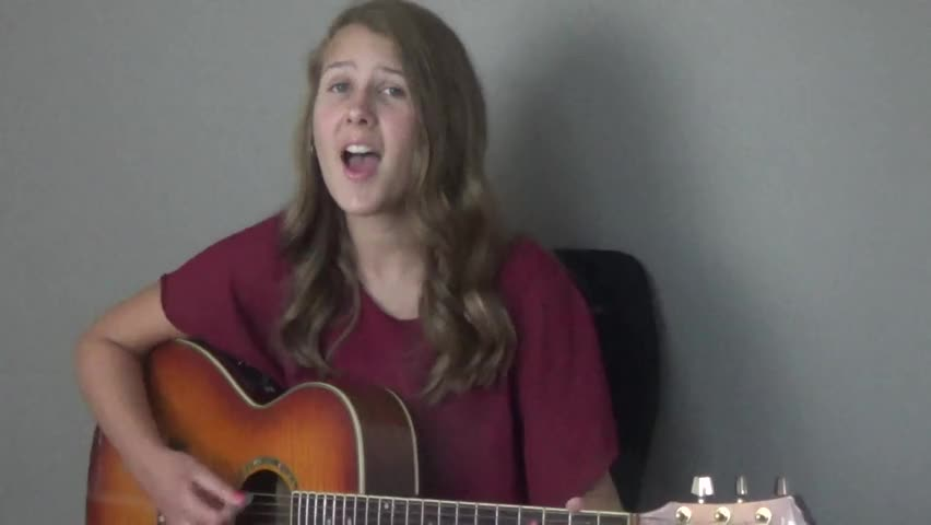 10 year old girl plays guitar for 1st time christian music videos