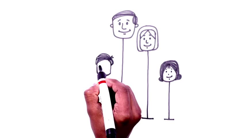 Cartoon Drawings - How to Draw Balloon Man - Family Videos