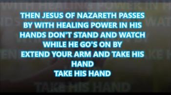 take his hand