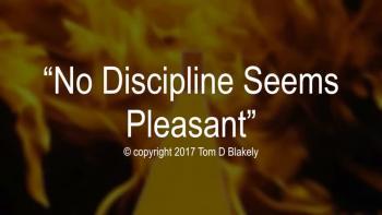 No Discipline Seems Pleasant