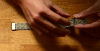 Mistura Mesh's Buckle Adjustment Natural Wood Watches