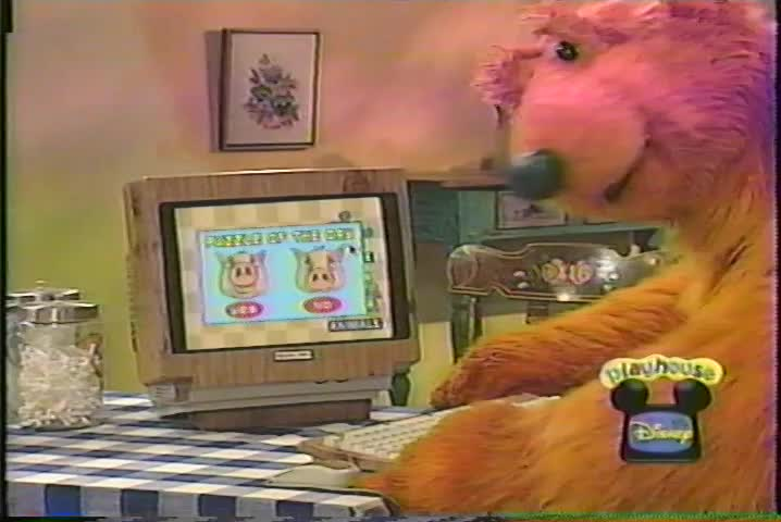 bear in the big blue house lets get interactive playhouse disney 2001 - Bear Inthe Big Blue House Christmas