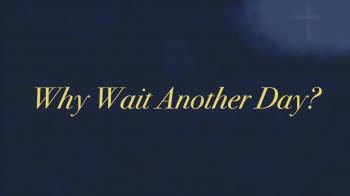 Why Wait Another Day?